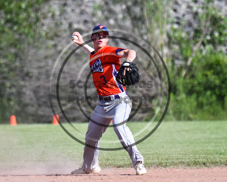Cortland Crush Anthony Cieszko (3) about to throw the ball against the Sherrill Silversmiths at the LaFayette Junior and Senior High School Field in LaFayette, New York on Saturday, June 9, 2018. Cortland won 12-6.