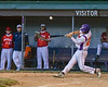Cortland Crush Nick Palma (27) hits the ball against the Onondaga Flames on Greg's Field at Beaudry Park in Cortland, New York on Friday, June 15, 2018. Onondaga won 8-7.