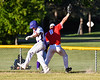 Cortland Crush Anthony Cieszko (3) is safe at 2st Base against the Onondaga Flames on Greg's Field at Beaudry Park in Cortland, New York on Friday, June 15, 2018. Onondaga won 8-7.