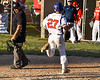 Cortland Crush Nick Palma (27) scores a run against the Onondaga Flames on Greg's Field at Beaudry Park in Cortland, New York on Friday, June 15, 2018. Onondaga won 8-7.