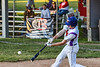 Cortland Crush Alex Flock (2) hits the ball against the Onondaga Flames on Greg's Field at Beaudry Park in Cortland, New York on Friday, June 15, 2018. Onondaga won 8-7.