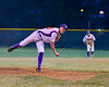 Cortland Crush Jonathan Triesler (19) pitching against the Onondaga Flames on Greg's Field at Beaudry Park in Cortland, New York on Friday, June 15, 2018. Onondaga won 8-7.