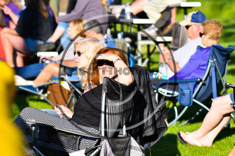 Cortland Crush fans enjoying the game against the Onondaga Flames on Greg's Field at Beaudry Park in Cortland, New York on Friday, June 15, 2018. Onondaga won 8-7.