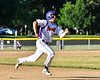 Cortland Crush Nick Palma (27) running the bases against the Onondaga Flames on Greg's Field at Beaudry Park in Cortland, New York on Friday, June 15, 2018. Onondaga won 8-7.