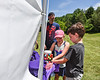 Young Cortland Crush fans on Greg's Field at Beaudry Park in Cortland, New York on Saturday, June 16, 2018.