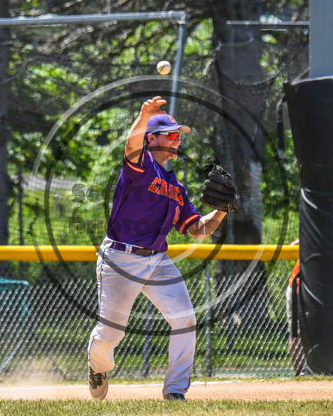 Cortland Crush Alex Babcock (16) throwing the ball against the Syracuse Salt Cats on Greg's Field at Beaudry Park in Cortland, New York on Saturday, June 16, 2018. Cortland won 10-0.