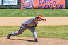 Syracuse Salt Cats Landry Mayo (22) pitching against the Cortland Crush on Greg's Field at Beaudry Park in Cortland, New York on Saturday, June 16, 2018. Cortland won 10-0.
