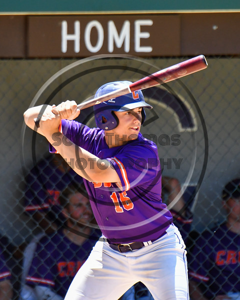 Cortland Crush Alex Babcock (16) at bat against the Syracuse Salt Cats on Greg's Field at Beaudry Park in Cortland, New York on Saturday, June 16, 2018. Cortland won 10-0.