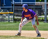 Cortland Crush Dylan Ketch (14) on basee against the Syracuse Salt Cats on Greg's Field at Beaudry Park in Cortland, New York on Saturday, June 16, 2018. Cortland won 10-0.