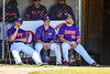 Cortland Crush Assistant Coaches watching the game against the Syracuse Salt Cats on Greg's Field at Beaudry Park in Cortland, New York on Saturday, June 16, 2018. Cortland won 10-0.