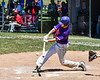 Cortland Crush Dylan Ketch (14) hits the ball against the Syracuse Salt Cats on Greg's Field at Beaudry Park in Cortland, New York on Saturday, June 16, 2018. Cortland won 10-0.