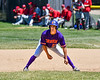 Cortland Crush Joe Palmo (21) on base against the Syracuse Salt Cats on Greg's Field at Beaudry Park in Cortland, New York on Saturday, June 16, 2018. Cortland won 10-0.