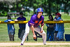 Cortland Crush Jimmy Tatum (17) on base against the Syracuse Salt Cats on Greg's Field at Beaudry Park in Cortland, New York on Saturday, June 16, 2018. Cortland won 10-0.