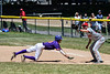 Cortland Crush Jonathan Triesler (19) hustles back to 1st Base before the ball against the Syracuse Salt Cats on Greg's Field at Beaudry Park in Cortland, New York on Saturday, June 16, 2018. Cortland won 10-0.