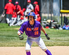 Cortland Crush Jonathan Triesler (19) on base against the Syracuse Salt Cats on Greg's Field at Beaudry Park in Cortland, New York on Saturday, June 16, 2018. Cortland won 10-0.