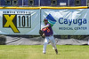 Cortland Crush Nick Palma (27) throwing the ball against the Syracuse Salt Cats on Greg's Field at Beaudry Park in Cortland, New York on Saturday, June 16, 2018. Cortland won 10-0.