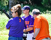 Cortland Crush Anthony Cieszko (3) talking with his parents before playing the Syracuse Salt Cats on Greg's Field at Beaudry Park in Cortland, New York on Saturday, June 16, 2018.