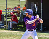 Cortland Crush Justin Valentino (15) at bat against the Syracuse Salt Cats on Greg's Field at Beaudry Park in Cortland, New York on Saturday, June 16, 2018. Cortland won 10-0.