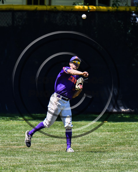 Cortland Crush Nelson Laviosa (10) catches and throwing the ball against the Syracuse Salt Cats on Greg's Field at Beaudry Park in Cortland, New York on Saturday, June 16, 2018. Cortland won 10-0.