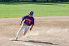 Cortland Crush Julio Creazzola (11) rounding 3rd Base to score against the Syracuse Salt Cats on Greg's Field at Beaudry Park in Cortland, New York on Saturday, June 16, 2018. Syracuse won 8-6.
