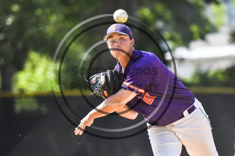 Cortland Crush Michael Viveiros (29) pitching against the Syracuse Salt Cats on Greg's Field at Beaudry Park in Cortland, New York on Saturday, June 16, 2018. Syracuse won 8-6.