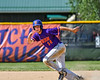 Cortland Crush Dylan Ketch (14) running the bases against the Syracuse Salt Cats on Greg's Field at Beaudry Park in Cortland, New York on Saturday, June 16, 2018. Syracuse won 8-6.