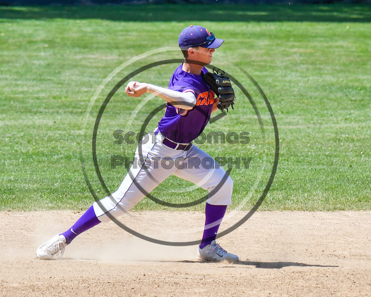Cortland Crush Anthony Cieszko (3) throws the ball against the Syracuse Salt Cats on Greg's Field at Beaudry Park in Cortland, New York on Saturday, June 16, 2018. Syracuse won 8-6.