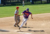 Cortland Crush Alex Flock (2) rounding 3rd Base to score a run against the Syracuse Salt Cats on Greg's Field at Beaudry Park in Cortland, New York on Saturday, June 16, 2018. Syracuse won 8-6.