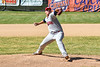 Syracuse Salt Cats player pitching againstthe Cortland Crush on Greg's Field at Beaudry Park in Cortland, New York on Saturday, June 16, 2018. Syracuse won 8-6.