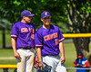 Cortland Crush Pitcher Michael Viveiros (29) about to start an inning against the Syracuse Salt Cats on Greg's Field at Beaudry Park in Cortland, New York on Saturday, June 16, 2018. Syracuse won 8-6.