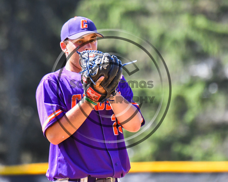 Cortland Crush Pitcher Michael Viveiros (29) on the mound against the Syracuse Salt Cats on Greg's Field at Beaudry Park in Cortland, New York on Saturday, June 16, 2018. Syracuse won 8-6.