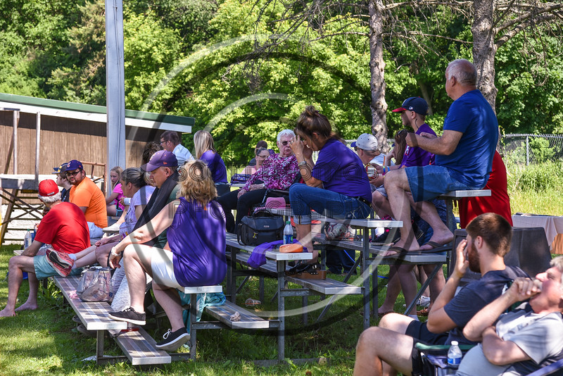 Cortland Crush fans on Greg's Field at Beaudry Park in Cortland, New York on Saturday, June 16, 2018.