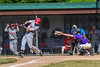 Cortland Crush Dylan Ketch (14) behind Home Plate against the Syracuse Salt Cats on Greg's Field at Beaudry Park in Cortland, New York on Saturday, June 16, 2018. Syracuse won 8-6.
