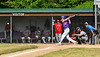 Cortland Crush Jimmy Tatum (17) hitting the ball against the Syracuse Salt Cats on Greg's Field at Beaudry Park in Cortland, New York on Saturday, June 16, 2018. Syracuse won 8-6.