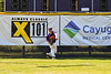 Cortland Crush Nick Palma (27) throwing the ball from the outfield against the Syracuse Salt Cats on Greg's Field at Beaudry Park in Cortland, New York on Saturday, June 16, 2018. Syracuse won 8-6.