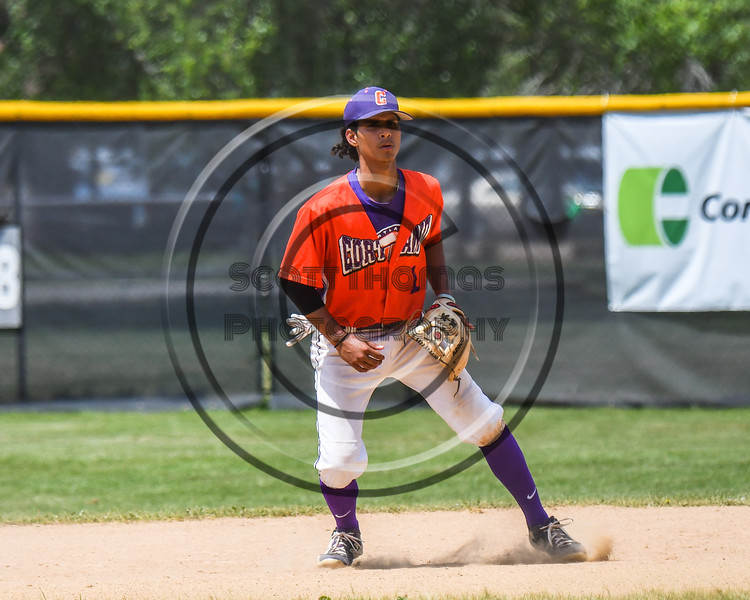 Cortland Crush Iset Maldonado (1) playing against the Sherrill Silversmiths on Greg's Field at Beaudry Park in Cortland, New York on Sunday, June 17, 2018. Cortland won 8-6.