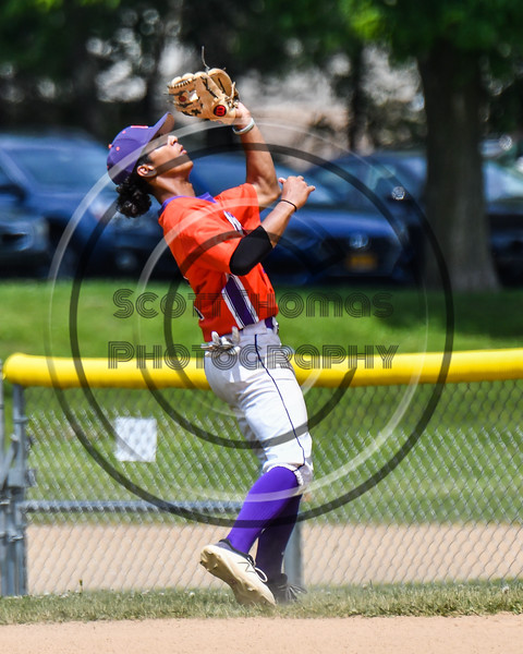 Cortland Crush Iset Maldonado (1) catches a pop fly for an out against the Sherrill Silversmiths on Greg's Field at Beaudry Park in Cortland, New York on Sunday, June 17, 2018. Cortland won 8-6.
