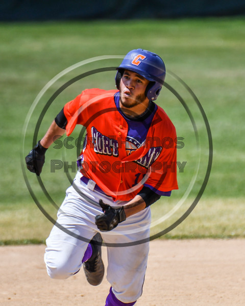 Cortland Crush Nelson Laviosa (10) running the bases against the Sherrill Silversmiths on Greg's Field at Beaudry Park in Cortland, New York on Sunday, June 17, 2018. Cortland won 8-6.