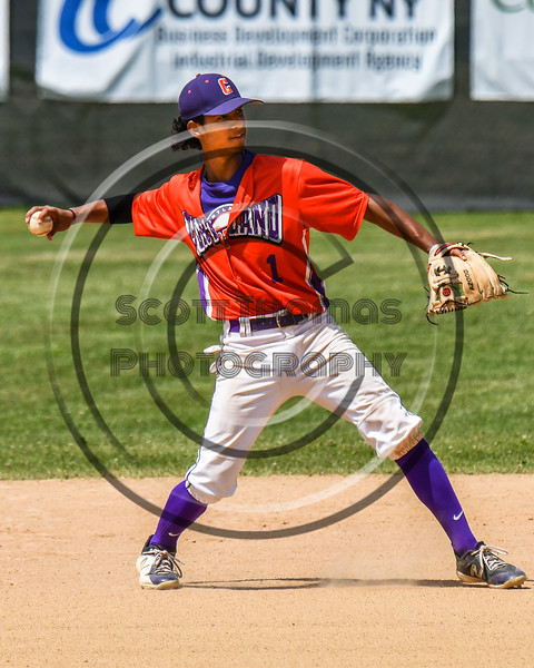 Cortland Crush Iset Maldonado (1) throwing the ball against the Sherrill Silversmiths on Greg's Field at Beaudry Park in Cortland, New York on Sunday, June 17, 2018. Cortland won 8-6.