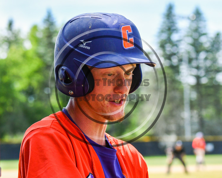 Cortland Crush Jonathan Triesler (19) in the Dougout during the game against the Sherrill Silversmiths on Greg's Field at Beaudry Park in Cortland, New York on Sunday, June 17, 2018. Cortland won 8-6.