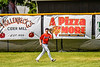 Cortland Crush Dylan Ketch (14) catching a fly ball for an out against the Sherrill Silversmiths on Greg's Field at Beaudry Park in Cortland, New York on Sunday, June 17, 2018. Cortland won 8-6.