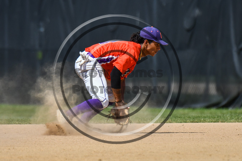 Cortland Crush Iset Maldonado (1) fielding the ball against the Sherrill Silversmiths on Greg's Field at Beaudry Park in Cortland, New York on Sunday, June 17, 2018. Cortland won 8-6.