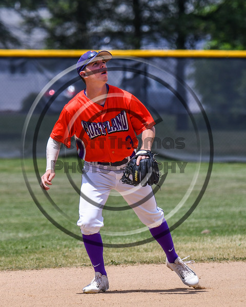 Cortland Crush Anthony Cieszko (3) playing Short Stop against the Sherrill Silversmiths on Greg's Field at Beaudry Park in Cortland, New York on Sunday, June 17, 2018. Cortland won 8-6.