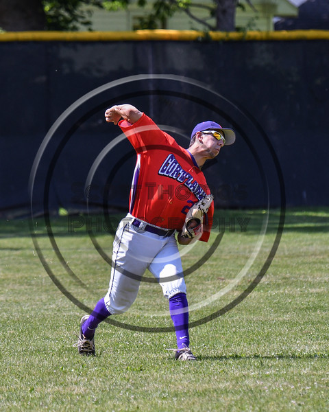 Cortland Crush Joe Palmo (21) throwing the ball against the Sherrill Silversmiths on Greg's Field at Beaudry Park in Cortland, New York on Sunday, June 17, 2018. Cortland won 8-6.