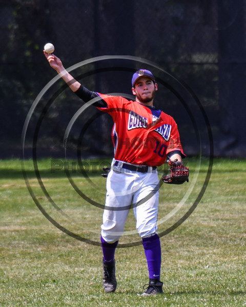Cortland Crush Nelson Laviosa (10) throwing the ball against the Sherrill Silversmiths on Greg's Field at Beaudry Park in Cortland, New York on Sunday, June 17, 2018. Cortland won 8-6.
