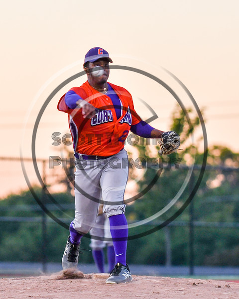 Cortland Crush Shane Epps (24) throwing the ball to 1st Base against the Syracuse Salt Cats at OCC Turf Field in Syracuse, New York on Thursday, June 21, 2018. Syracuse won 6-2.