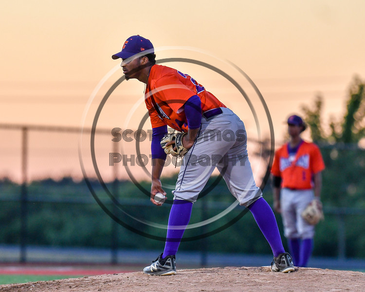 Cortland Crush Pitcher Shane Epps (24) on the mound against the Syracuse Salt Cats at OCC Turf Field in Syracuse, New York on Thursday, June 21, 2018. Syracuse won 6-2.