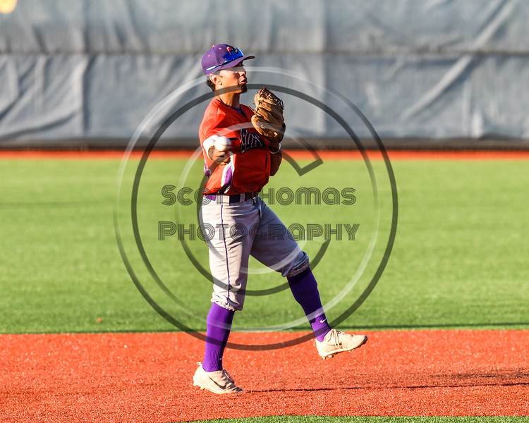 Cortland Crush Julio Creazzola (11) throwing the runner out at 1st Base against the Syracuse Salt Cats at OCC Turf Field in Syracuse, New York on Thursday, June 21, 2018. Syracuse won 6-2.