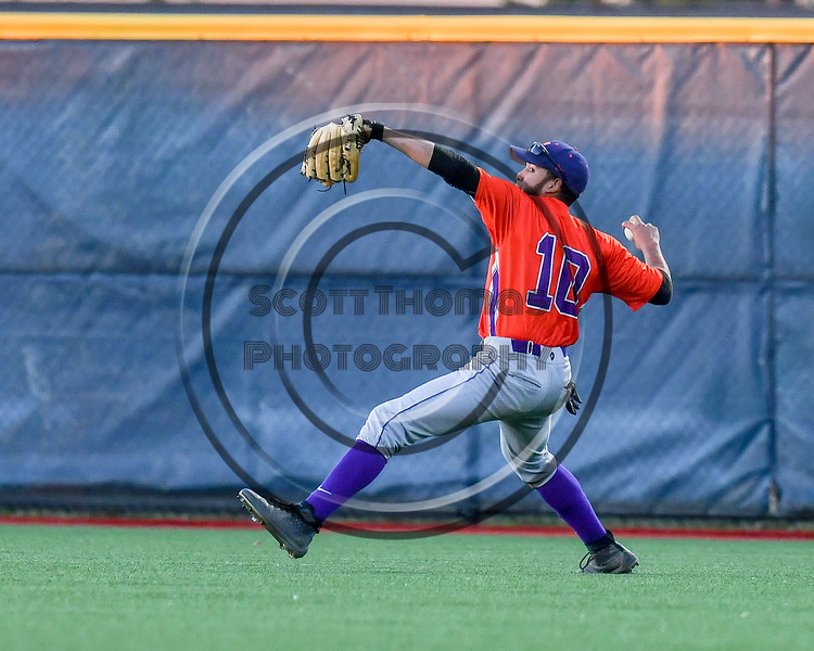 Cortland Crush Nelson Laviosa (10) throwing the ball against the Syracuse Salt Cats at OCC Turf Field in Syracuse, New York on Thursday, June 21, 2018. Syracuse won 6-2.