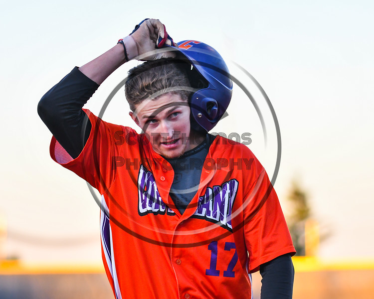 Cortland Crush Jimmy Tatum (17) walking back to the dugout against the Syracuse Salt Cats at OCC Turf Field in Syracuse, New York on Thursday, June 21, 2018. Syracuse won 6-2.